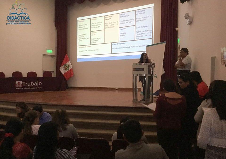 DIDÁCTICA desarrolló la 2da jornada de capacitación docente de Lima Emprende