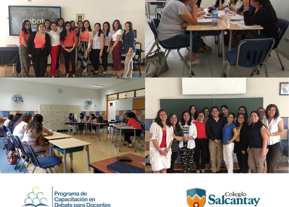 LAS PROFESORAS DEL ÁREA DE INGLÉS DEL COLEGIO SALCANTAY SE CAPACITARON CON NOSOTROS