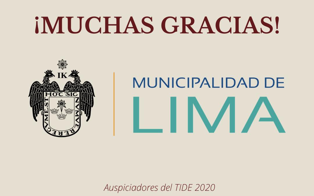 TIDE: Municipalidad de Lima auspiciará la VI edición del TIDE