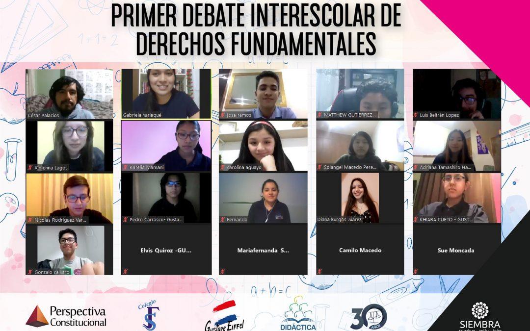 CIDE DIDÁCTICA colaboró con Siembra y Perspectiva Constitucional para la realización del I Debate Interescolar de Derechos Fundamentales