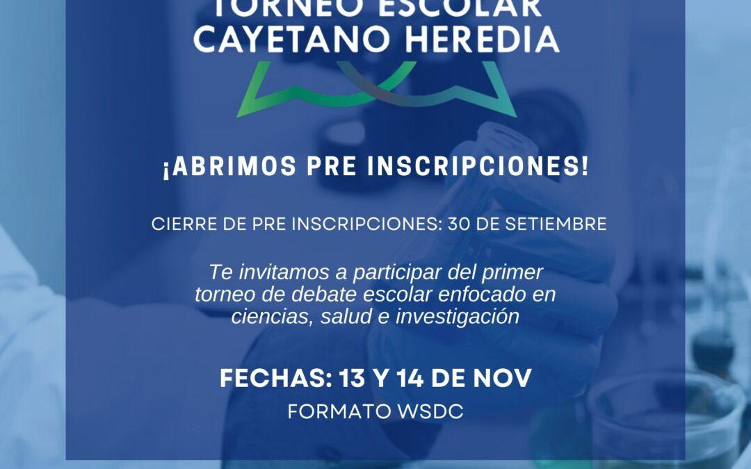 Preinscripciones abiertas: Participa en el I Torneo Escolar de Debate Cayetano Heredia