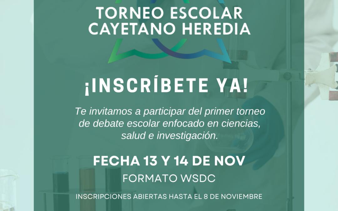Inscripciones abiertas: Participa en el I Torneo Escolar de Debate Cayetano Heredia